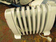 Delonghi - Electric Oil Filled Radiator Small - Untested, Unpackaged.