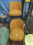 | 1X | MADE.COM SET OF 2 SWINTON DINING CHAIRS | LOOKS UNUSED (NO GUARANTEE) | RRP CIRCA £179 |