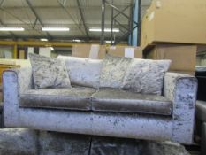 Costco crushed velvet 2 seater sofa, in very good condition with feet