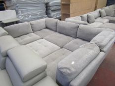 Mstar 6 piece sectional sofa, looks like a ex display as still has the tags on a few pieces