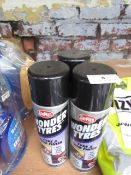 3x Carplan - Wonder Tyres - Tyre & Trim Finish ( 3 x 500ml ) - Unused.