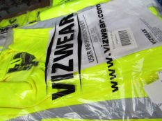 VIZWEAR SET - 1x Vizwear - Polycotton Jacket Hi-Vis Yellow - Size XL - Unused & Packaged. 1x Vizwear