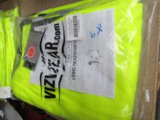 1x Vizwear - Hi-Vis Yellow Polycotton Cargo Shorts - Size 3XL - Unused & Packaged.