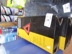 3x AA - Foldable Warning Triangle - Unchecked & Boxed.