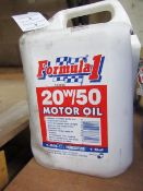 Formula 1 - 20w/50 Motor Oil - 5 Litres - Unused & Sealed.