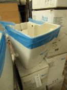 Roca Hall semi pedestal, new and boxed.