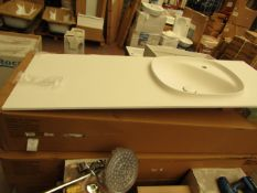 Roca Surfex 1TH basin with waste trap, new and boxed. RRP with unit £3,500