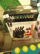Farberware - Platinum 7 Pc Self-Sharpening Forged Japanese Steel Cutlery Set - Unchecked & Boxed.