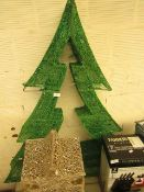 1x Christmas Tree LED Decoration (Approx 110cm Tall x 110cm Wide) - Untested, Item In Used