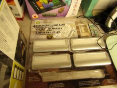 4x Capstone - LED Accent Light Bars (Battery Operated) - Used Condition, Packaged.