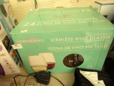 Argentina Ridge - Unbreakable Stemless Wine Glasses (Approx 24) - Unused & Boxed.
