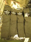 12 x Girls Grey Knee High Socks with Lycra size 4-6 new & packaged