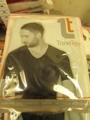 | 1x | MENS TONE TEE NECK COMPRESSION T-SHIRT BLACK SIZE L | NEW & PACKAGED |