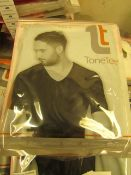 | 1x | MENS TONE TEE NECK COMPRESSION T-SHIRT BLACK SIZE XL | NEW & PACKAGED |