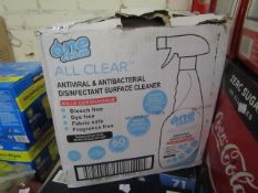 One Chem Antiviral & Antibacterial Disenfectant Surface Cleaner (6x750ml) - Damage to Packaging