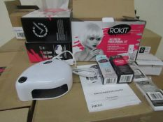 2x ROKIT - Professional Gel Polish Kit - (Please Note These Sets Are Not Complete & May Be Missing