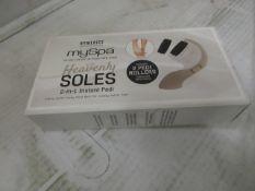 2x Homedics - My Spa Heavenly soles 2 in 1 instant pedi - Unused & Boxed.