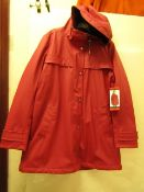 1 x Weatherproof Ladies Cherry Red with Black Soft Pile Lining size M new with tag