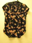 1 x Hilary Radley Kimono Style Blouse with Cuff Sleeve size S no tag see image for design