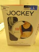 2 x Jockey Bralettes size L new & packaged