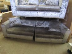 Costco crushed velvet 3 seater sofa (comes in 2 halfs for ease of movement, in very good condition