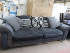 | 1X | MADE.COM 3 SEATER (2 CUSHION) SOFA WITH SCATTER CUSHION BACK | IN GOOD CONDITION UT NEEDS A