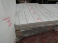 Kingsize mattress with divan base, ex-display so item may contain a few marks etc.