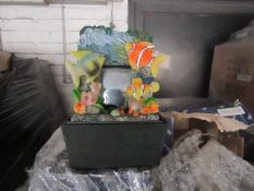 A Pallet of approx 100 Small Fish themed water features, look unused but all unchecked