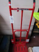 1 Carke strong arm sack truck. This lot is a Machine Mart product which is raw and completely
