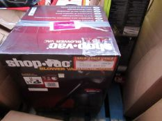 1 Shop Vac blower vac. This lot is a Machine Mart product which is raw and completely unchecked
