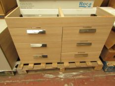 Roca base furniture 3 drawers Debba 120cm, new and boxed. RRP £800.00 | Picture is for display