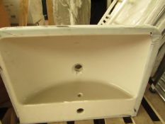 Vitra 1TH basin with universal full pedestal, new.