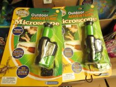 3x Brainstorm Outdoor Adventure Microscope (Illuminated 20x-40x Microscope) - Packaged & Unchecked