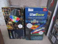 2X | STARTASTIC ACTION LASER PROJECTOR | NEW AND BOXED | NO ONLINE RESALE | SKU - | RRP £30 |