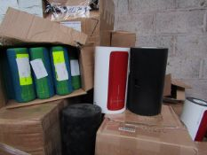 6X UE Megaboom speaker, unchecked. PLEASE NOTE, this lot is picked at random and you may receive a