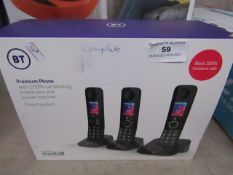 Trio of BT Premium phones, features Nuisance call blocker and Mobile sync, the seet is complete
