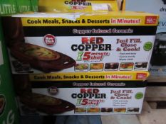 | 12X | RED COPPER CHEF ELECTRIC MEAL MAKERS | UNCHECKED AND BOXED | NO ONLINE RESALE | SKU