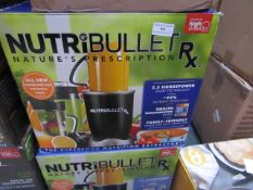 | 4X | NUTRI BULLET RX | UNCHECKED AND BOXED | NO ONLINE RESALE | SKU - | RRP £119.99 | TOTAL LOT