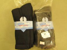10 X Pairs of Mens Sport Socks Black Size 6 to 11 New & Packaged