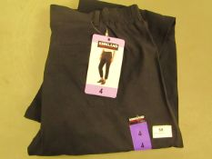 Kirkland Signature Ladies Ankle LengthTravel Pants Black Size 4 New With Tags