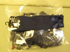 12 X Pairs of Girls Navy Knee Socks With Bow Size 12.5 To 3.5 New & Packaged