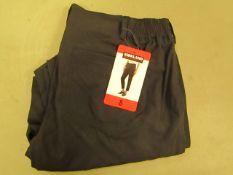 Kirkland Signature Ladies Ankle LengthTravel Pants Black Size 8 New With Tags