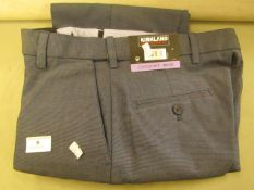 """Kirkland Signature Mens Custom Fit Trouseres 30"""" X 30"""" New With Tags"""
