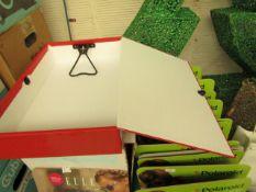 5x Centurion Red Box Files - Unused & Boxed.
