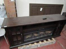 Costco Large electric fireplace unit with remote control, the fire effect, fan colour change nad