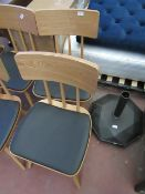 | 2X | MADE.COM WOODEN DINING CHAIRS | UNCHECKED, NO BOX | RRP £179 |
