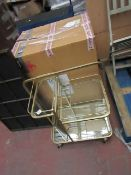 | 1X | COX AND COX LANES BOROUGH DRINKS TROLLEY | THE MIRROR PIECE IS DAMAGED | RRP £399.95 |