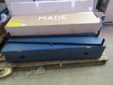 | 1x | MADE.COM MARCELL WIDE MEDIA UNIT | SLIGHT DAMAGE TO TOP LEFT DRAWER CORNER & BOXED | RRP