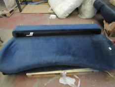 | 1X | KROOPER DOUBLE BED, SAPPHIRE BLUE VELVET | LOOKS UNUSED (NO GURANTEE) | RRP £449 |