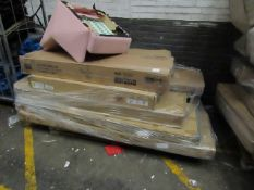 | 1X | PALLET OF RAW CUSTOMER FLAT PACK FURNITURE, STOCK UNMANIFESTED, WE HAVE NO IDEA WHAT IS ON